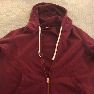 Old Navy hoodie XL in wine/maroon